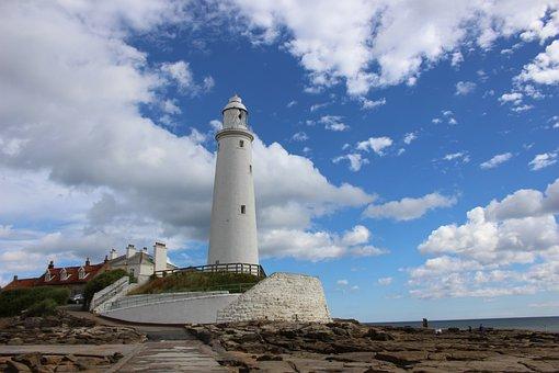 Lighthouse, St Marys, Seaside, England, North, Tyneside