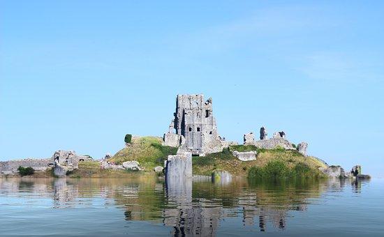 Castle, Island, Landscape, Architecture, Landmark, Sky