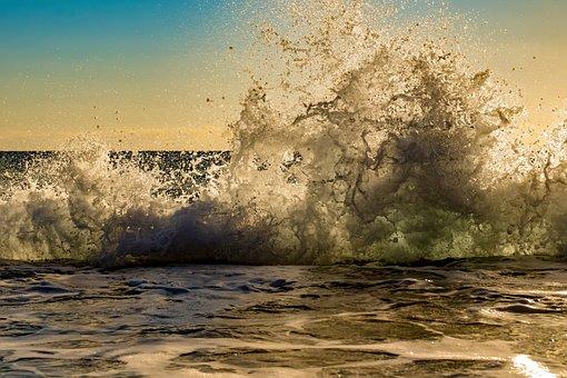 Wave, Crashing, Water, Sea, Splash, Nature, Power, Foam