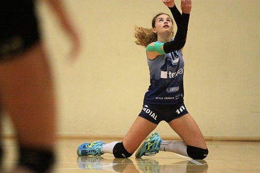 Sport, Volley, Volleyball, Play, Movement, Sporty