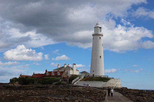 Lighthouse, St Mary, Whitley Bay, Monument