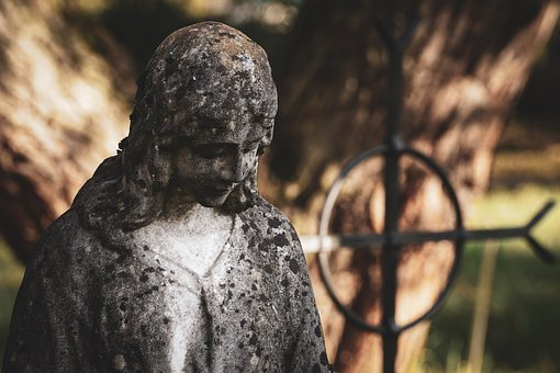 Grave, Sculpture, Stone, Figure, Death, Mourning