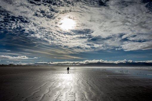 Inch Beach, Ireland, Clouds, Sunshine, Beach