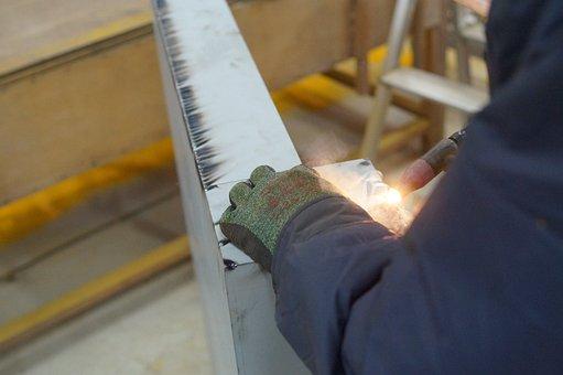 Industry, Technique, Welding, Steel, Metal, Factory