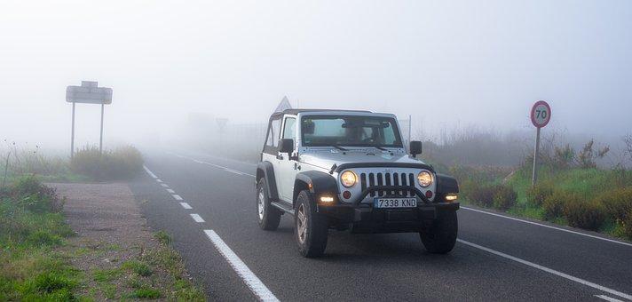 Fog, Road, Car, Travel, Danger, Dangerous, Unknown, End