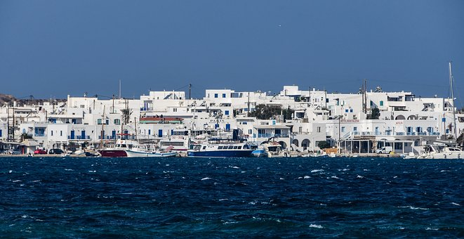Village, Sea, Port, Boat, Cyclades, Antiparos, Paros