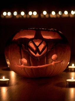 Halloween, Vw, Volkswagen, Pumpkin, Helloween, Creepy