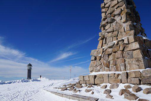 Feldberg, Nature, Snow, Winter, Christmas, Monument