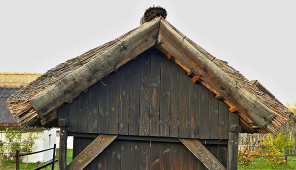 The Roof Of The, Wooden, Barn, Old, Farm, Cottage, Wood