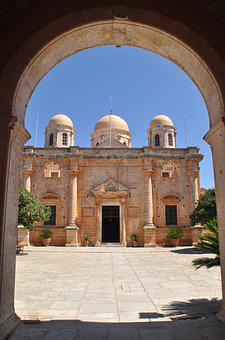 Monastery, Old, Greece, Crete, Historically, Masonry