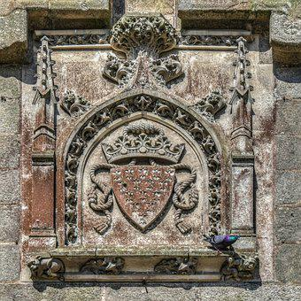 Coat Of Arms, Emblem, Pierre, Wall, Sculpture, Symbol