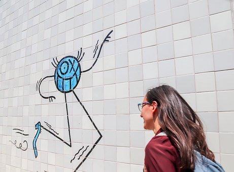 Comic, Graffiti, Wall, City, Lifestyle, Pedestrian, Art