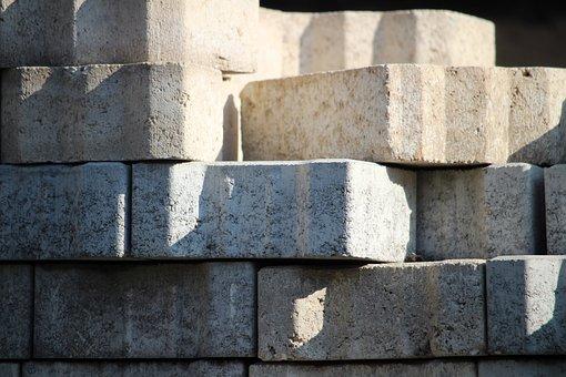 Paving Stones, Bricks, Concrete, Grey, Structure, Patch