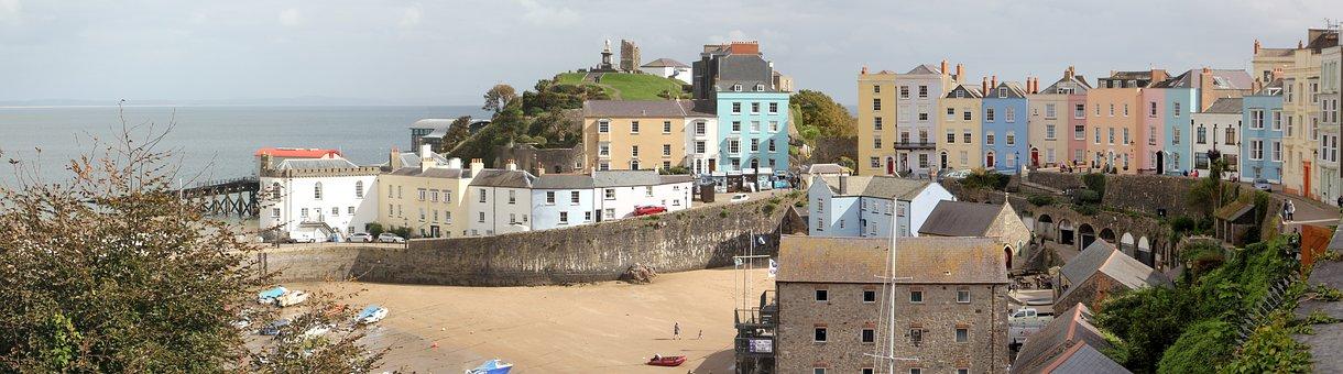 Wales, Tenby, Harbour, Coast, Pembrokeshire, Seaside