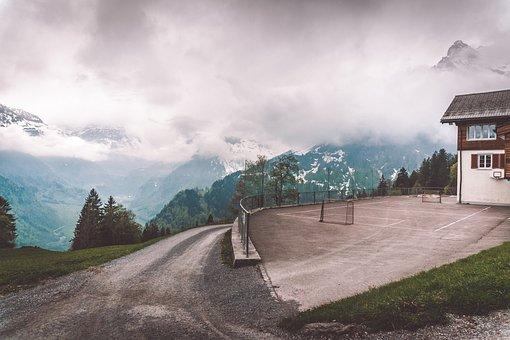 Mountain, Trees, Wooden, Switzerland, Idyllic