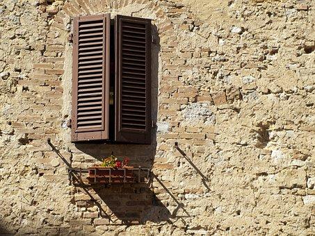 Facade, Brick, Wall, Window, Masonry, Old, Stone Wall