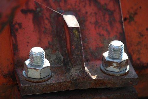 Screw, Metal, Steel, Thread, Fix, Rust, Mechanics, Red