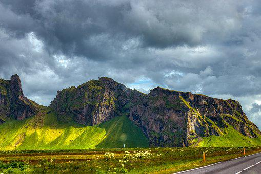 Iceland, Mountains, Landscape, Nature, Sky, Clouds