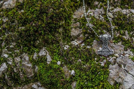 Viking, Thor, Jewellery, Nordic, Hammer, Rock, Chain