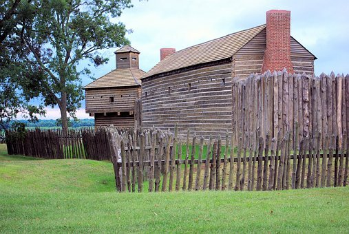 Fort Massac Stockade And Buildings, Oven, Fort
