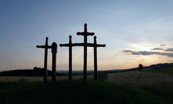 Crosses, Plague, Hill, Hegau, Volcano, Tuttlingen