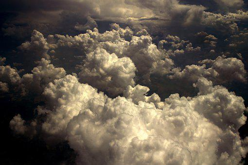 Cloud, Sky, Height, Fluffy, The Atmosphere, Plane, View