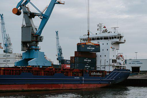 Ship, Containers, Hamburg, Port, Container, Cargo