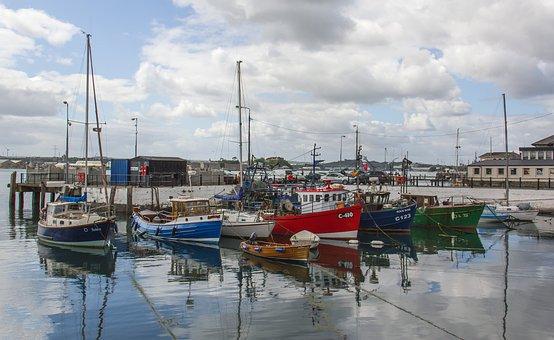Harbour, Boats, Ireland, Water, Port, Sea, Maritime