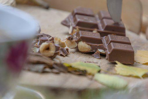 Chocolate, Hazelnuts, Ritter Sport, Delight, Food