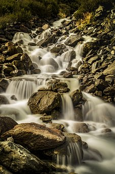 Bach, Waterfall, Nature, Landscape, Water, River, Creek
