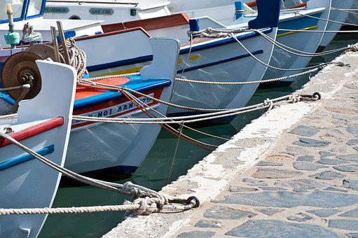 Port, Boats, Coast, Water, Sea, Bank, Rope, Fixed