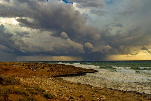 Storm, Rocky Coast, Waves, Sea, Nature, Landscape, Sky