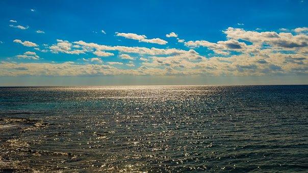 Sea, Sky, Clouds, Horizon, Nature, Seascape, Autumn