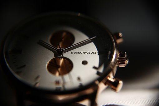 Watch, Armani, Jewelry, Elegant, Clock, Dial, Silver