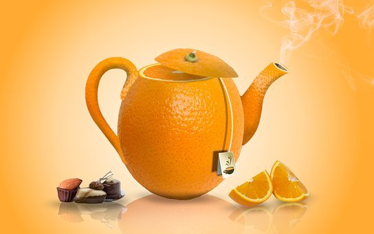 Orange, Chocolate, Tea, Food, Candy