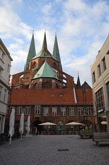Lübeck, Schrangen, St Mary's Church, Town Hall