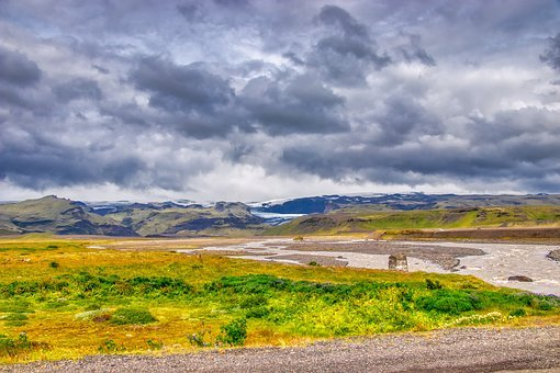 Iceland, View, Landscape, Nature, Clouds, Sky