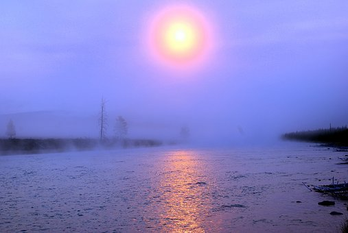 Sunrise Over Madison River, Yellowstone, National, Park