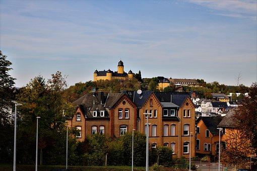 Montabaur, Castle, Unterdorf, Brick, Lantern, Barrier
