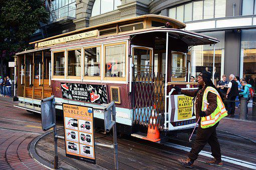 San Francisco, Cable Car, Transportation, City, Usa