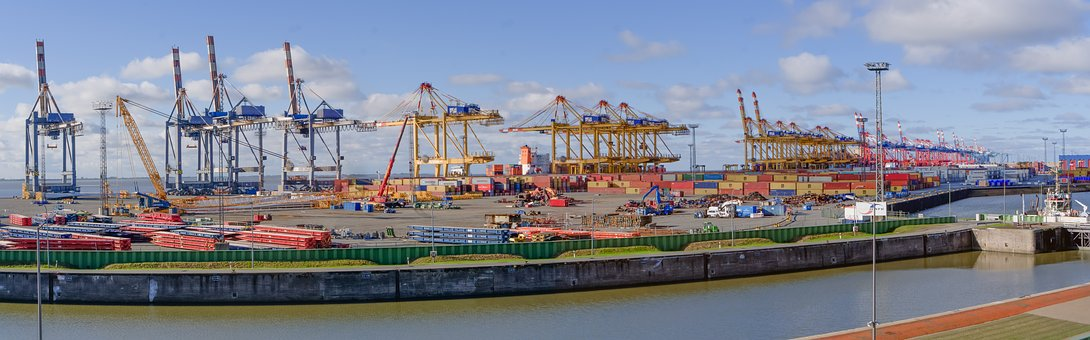 Container Terminal, Container Handling, Cranes, Cargo
