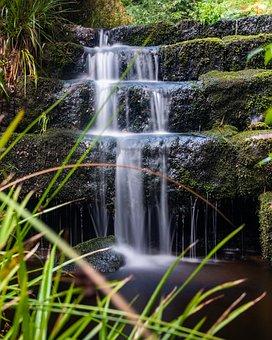 Waterfall, Bach, River, Landscape, Nature, Creek, Wet