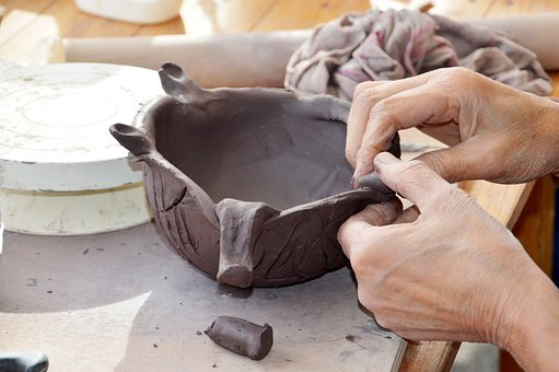 Crafts, Pottery, Hand, Clay, Decor, Element, Artisan