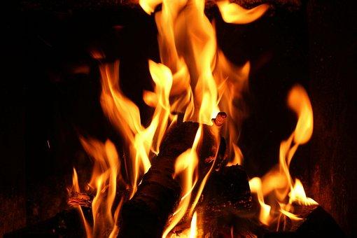 Fireplace, Fire, Flames, Heat, Autumn, Mood, Evening