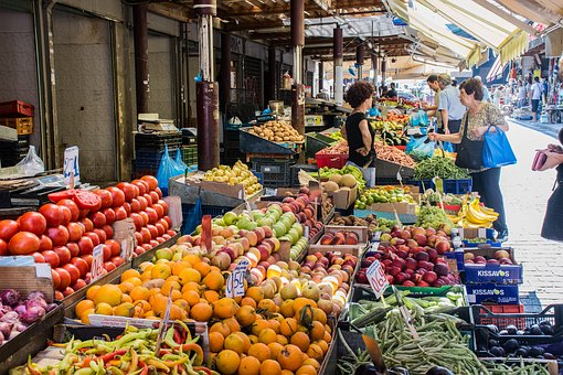 Market, Fruit, Vegetables, Healthy, Fresh, Food