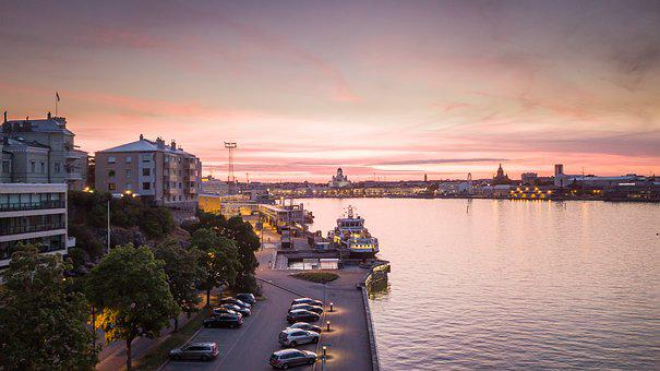 Helsinki, Finnish, Uusimaa, City, Scandinavia, Sunset
