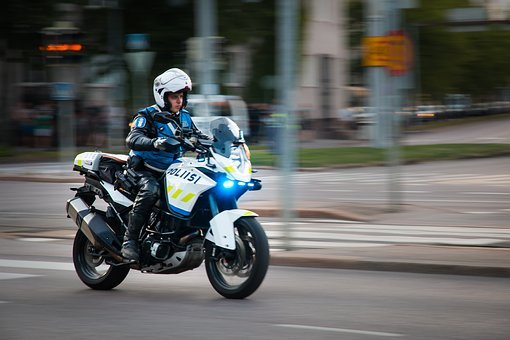 The Police, Finnish, Motorcycle, Helsinki, Security