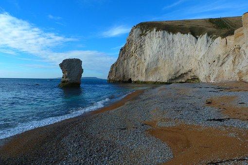 Dorset, Durdle Door, Beach, Chalk Stack, Holiday, Bay