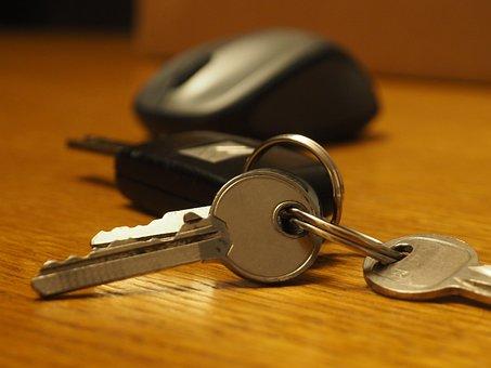 Key, Keychain, Mouse, Open, Car, Computer, Door
