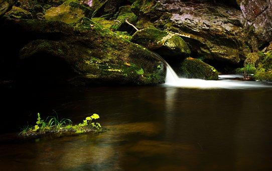 Creek, Waterfall, Cascade, Nature, Water, Landscape